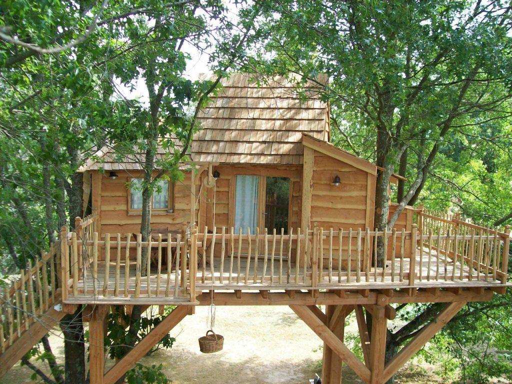 cabane dans les arbres Ginasservis var _ moulin d'espagne